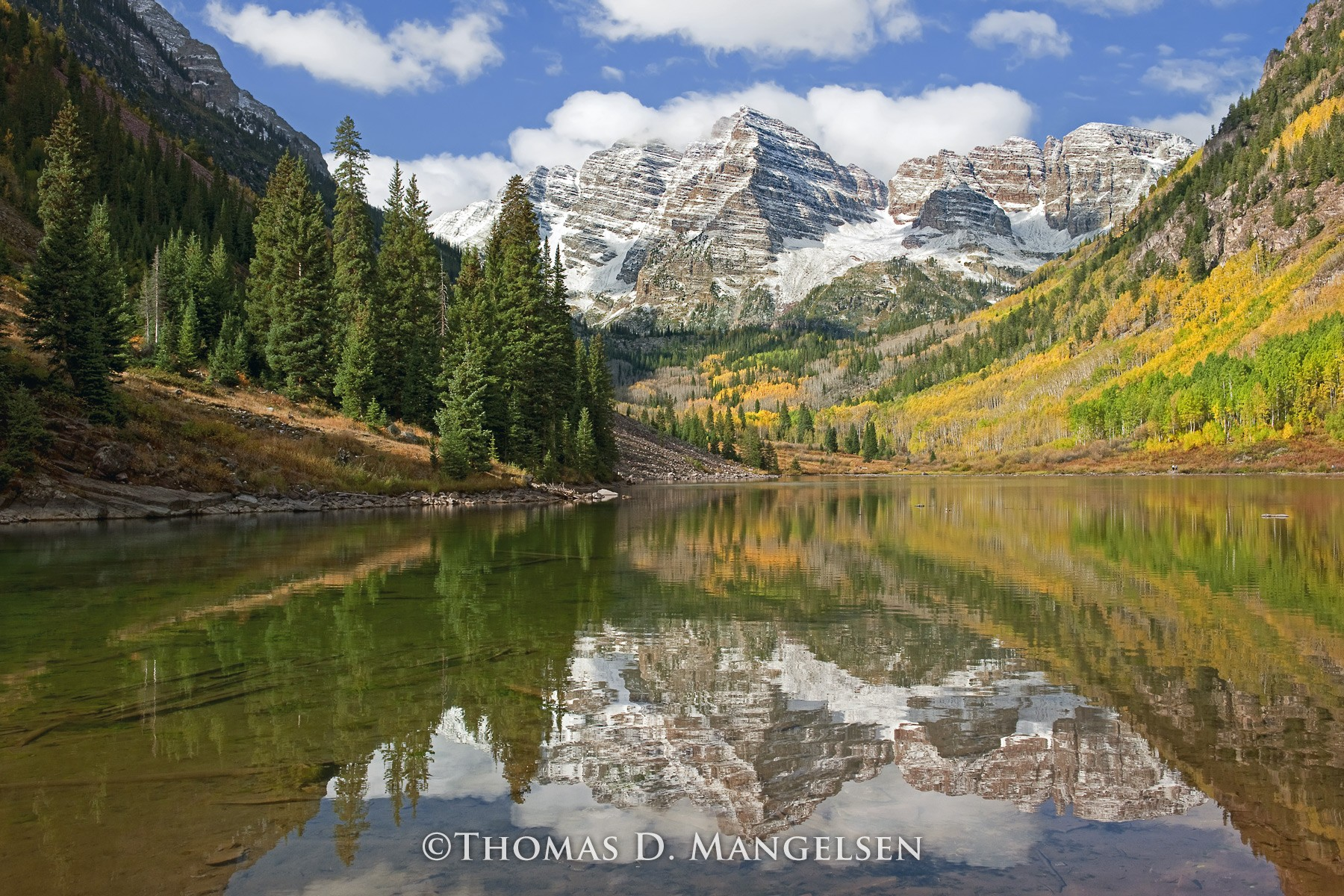 Images Of Nature Mangelsen Maroon Bells Reflection